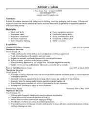 resume template  logistics resume objective  logistics resume    resume objective examples for warehouse worker   warehouse associate experience
