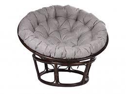 <b>Кресло Papasan Chair</b> Рогожка Светлый Серый Ротанг ...