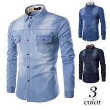 Generic Fashion <b>Men's Autumn Casual</b> Slim Fit Denim Cotton Long ...