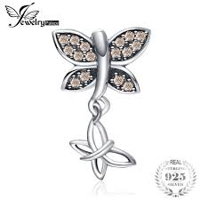 <b>JewelryPalace 925</b> Sterling Silver Cubic Zirconia <b>Butterfly</b> Beads Fit ...