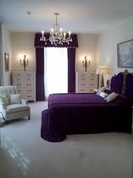 inspiration wonderful crystal bedroom chandelier over purple bed cover set and white lingerie dresser as well black bedroom furniture girls design inspiration