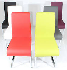 yellow dining chairs part leather image is loading charles jacobs set of  modern pu leather