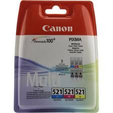 Оригинальные <b>картриджи Canon CLI</b>-<b>521C</b> (голубой), <b>CLI</b>-<b>521M</b> ...