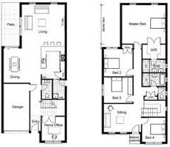 Compact Bedroom House Plans X Design Ideas     Compact        Two Story Narrow Houses Floor Plans X Design     Compact House