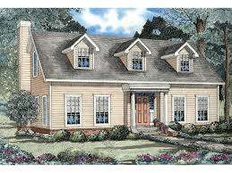 Elbring New England Style Home Plan D    House Plans and MoreCape Cod  New England Style Home With Triple Dormers
