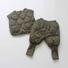 <b>Korean</b> Style <b>Kids Clothing</b> Sets Vintage Thicken Vest Haren Pants ...
