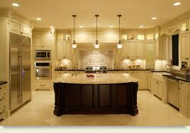 cool built kitchen  cool lamp decor with modern refrigerator and oven black countertops c