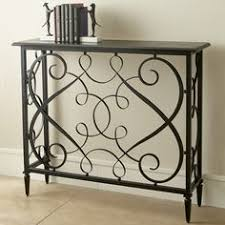 shop for global views french panel console and other living room tables at norris home furnishings in fort myers and naples fl black powder coated iron black wrought iron table