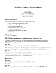 front office executive resumes template front office executive resumes