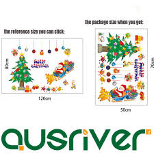 Décor Decals, Stickers & Vinyl Art 2x Merry <b>Christmas Tree Santa</b> ...