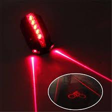 <b>Cycling Bike Bicycle</b> 5 LED 2 <b>Laser</b> Beam Rear <b>Tail Light 3</b> Modes ...