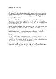 cover letter for resume for nursing student