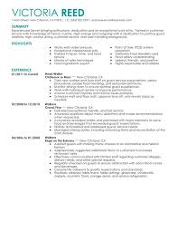 unforgettable server resume examples to stand out   myperfectresumeserver resume sample