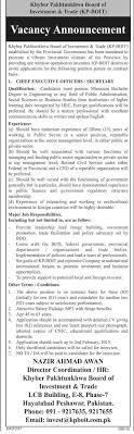 ceo secretary job in kpk board of investment and trade kp boit kpk jobs