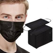 <b>50</b>/<b>100Pcs Mouth Mask Disposable</b> Black Mouth Face Masks Mask ...