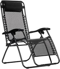 AmazonBasics Zero Gravity Reclining Lounge Portable <b>Chair</b>, <b>Black</b> ...