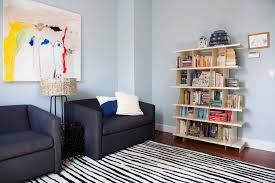 grey walls dark wood trim home office contemporary with white throw pillow zebra print rug blue home office dark wood