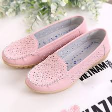 Womens Slip On <b>Flat Shoes</b>,Comfort Walking Leather Loafers ...