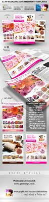 x a psd magazine advert templates by quickandeasy graphicriver 3x a4 psd magazine advert templates magazines print templates