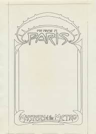 tenth letter of the alphabet under cover my is paris part  photocopy of revised title page design the border from the cover