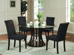 black and white dining table set: black round dining table set is also a kind of kitchen round glass kitchen table and