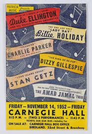 Concert featuring <b>Duke Ellington</b>, <b>Billie</b> Holiday, Dizzy Gillespie, and ...