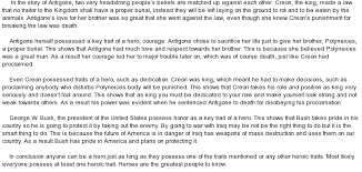 antigone hero vs modern day hero at essaypedia comessay on antigone hero vs modern day hero