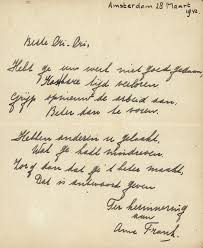 Anne Frank     s poetic letter to her friend  Christiane  was sold today to a private bidder  Public Radio International