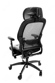 bedroomengaging rear view of an ergonomic executive office chair isolated on best desk white stock photo bedroominspiring high black vinyl executive office