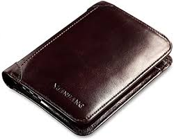 Men's Wallet Men's First Layer Leather Wallet Short <b>Three</b>-fold ...