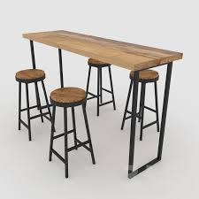 3d models: Table + Chair - <b>bar table with</b> chairs | Барные столы, Стол