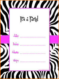 6 printable birthday invitation templates receipt templates and black the template also has a dash of pink the template printable birthday