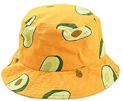 SODIAL <b>Small Fresh</b> Literary <b>Avocado</b> Fisherman Hat Unisex ...
