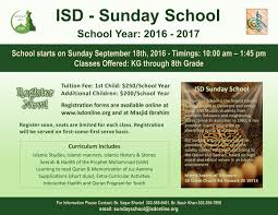 isd sunday school sundayschoolflyer2016