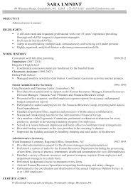 chronological resume sample administrative assistant inside chronological resume sample administrative assistant inside administrative assistant objective