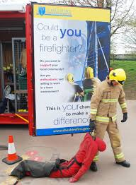 news and events casualty drag at tarporley primary school taster day firefighters