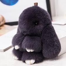 <b>15CM</b> Fluffy <b>Bunny Keychains</b> Rex <b>Rabbit Key Chain Fur</b> Woman ...