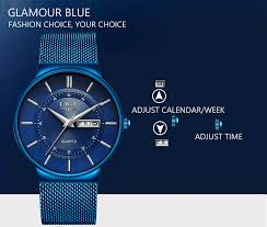 2019 New Blue Quartz Clock <b>LIGE Mens Watches Top</b> Brand Luxury ...