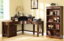 classic brown varnished oak wood corner desk which paired with display bookcase cabinet awesome pine desks home office