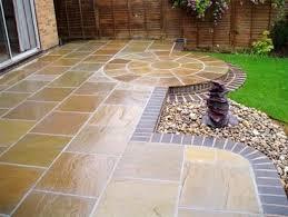 patio stone design varied