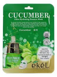 Ekel <b>тканевая маска</b> для лица с экстрактом <b>огурца</b> cucumber ultra ...
