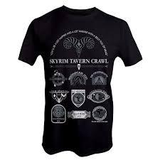 <b>Skyrim</b> - Tavern Crawl <b>T</b>-<b>Shirt</b> - Clothing - EB Games Australia