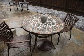 gallery diy tiled dining tile home depot patio tables tile top patio table home depot tile
