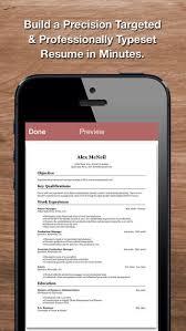 resume star  pro cv maker and resume designer   pdf output to    iphone screenshot