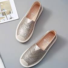 <b>Women Loafers Paillette Spring</b> Flat Shoes Ladies Sequin ...