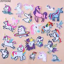 <b>ZOTOONE Fashionable Unicorn</b> Patches for Clothes Embroidered ...