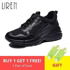 <b>Liren 2019 Spring Autumn Women</b> Sneakers Genuine Leather ...