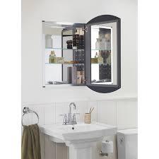 mirror corner bathroom cabinet swing medicine