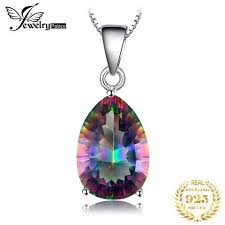 JewelryPalace <b>4ct Genuine</b> Multicolor <b>Rainbow Fire</b> Mystic Topaz ...
