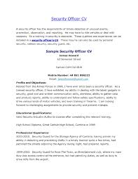 job resume examples unarmed best resume and all letter for cv job resume examples unarmed revware reshape your world resume for security officer security officer resume sample